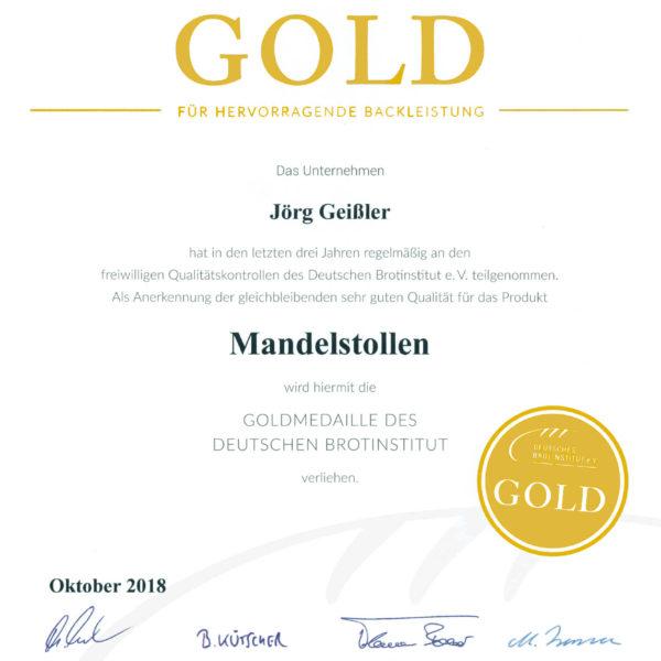 Auszeichnung in Gold für die Bäckerei Geißler aus Ostritz